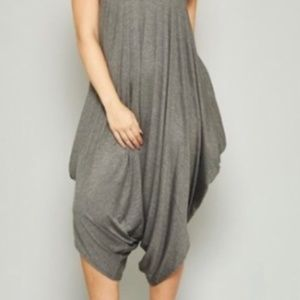 047d6bfff33 SB Glam Pants - Plus Size 3X Gray Harem Jumpsuit Heather